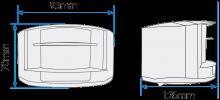 Medidas del sensor laser D-TECT GJD-505 de detecion perimetral