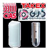 Detectores Infrarrojos Pasivos Exterior de la marca CIAS, TAKEX y GJD