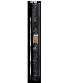 Colunas de segurança perimetral, pré-instaladas, easyPack de uma cara (180°), 2 metros de altura, montagem na parede